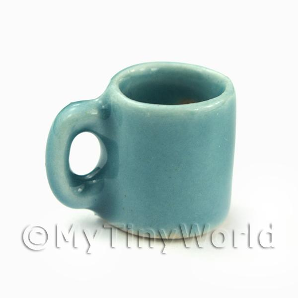 Dolls House Miniature  | Miniature 12mm Aquamarine Ceramic Coffee Mug
