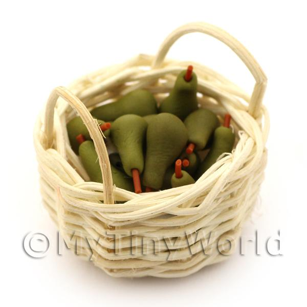 Dolls House Basket of Handmade Conference Pears