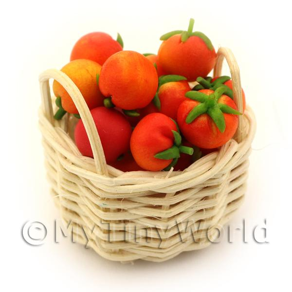 Dolls House Basket of Handmade Tomatoes