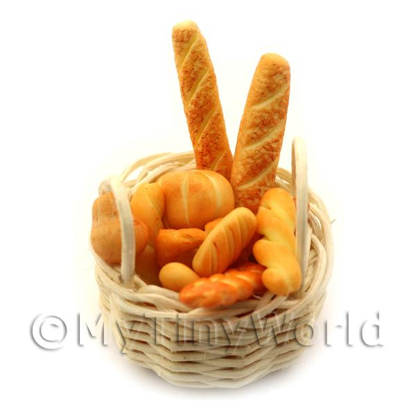 Miniature Basket of Handmade Breads Selection
