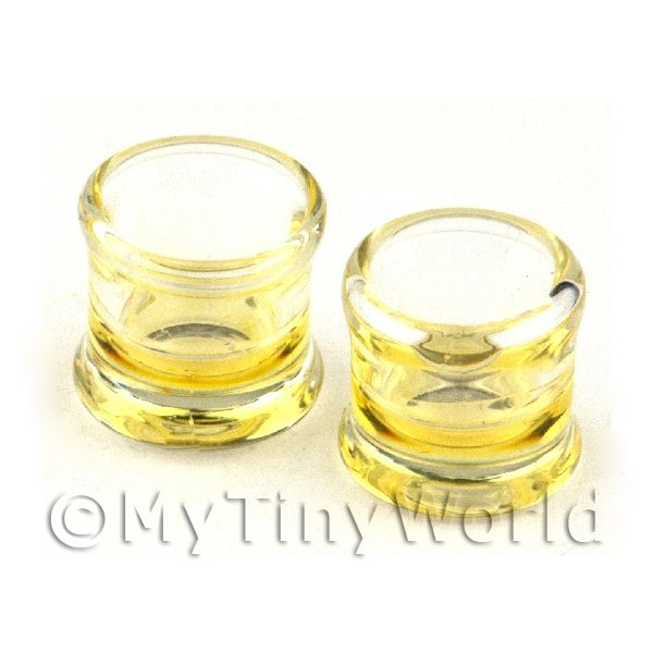 Dolls House Miniature Handmade Whisky Glass With a Shot of Whisky