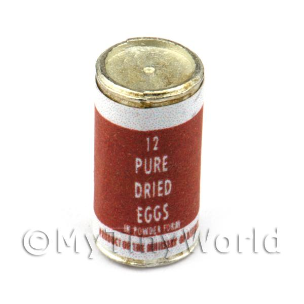 Dolls House Miniature Can Of 12 Powdered Dried Eggs