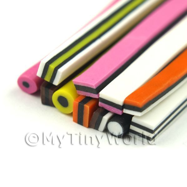 12 All Sorts Canes - Nail Art Bulk Pack