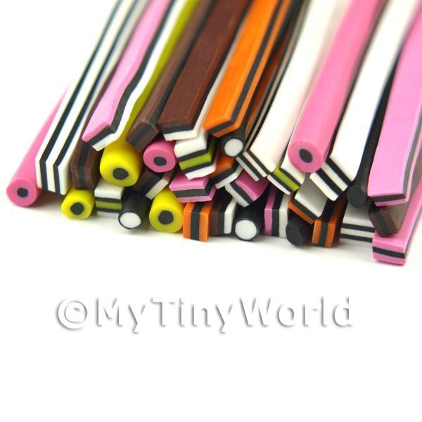 36 All Sorts Canes - Nail Art Bulk Pack