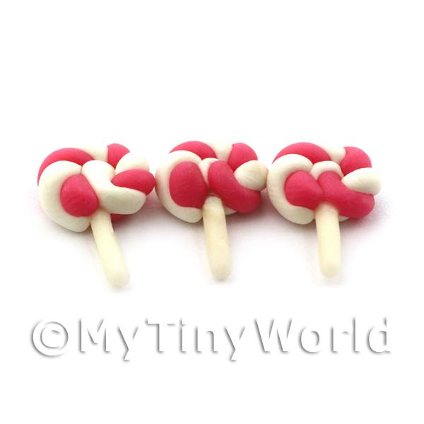 Dolls House Miniature Red and White Lolly