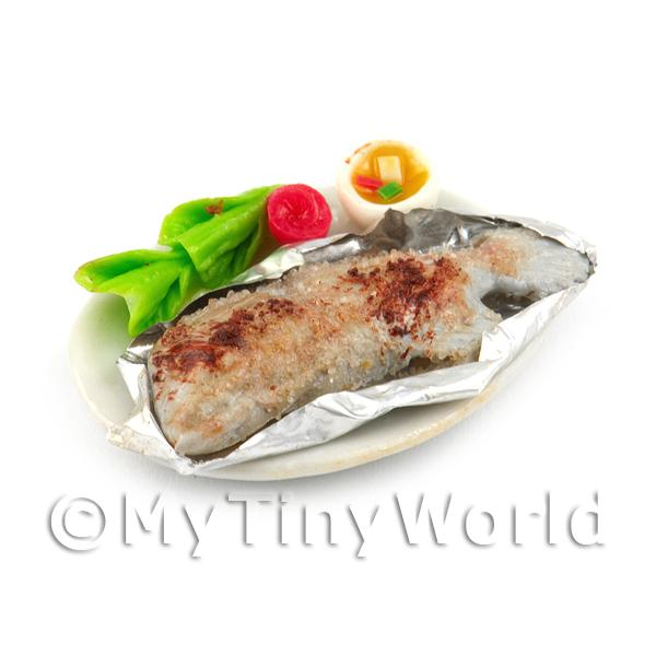 Dolls House Miniature  | Dolls House Miniature Whole Cooked Steamed Salted Fish With Chilli Dip