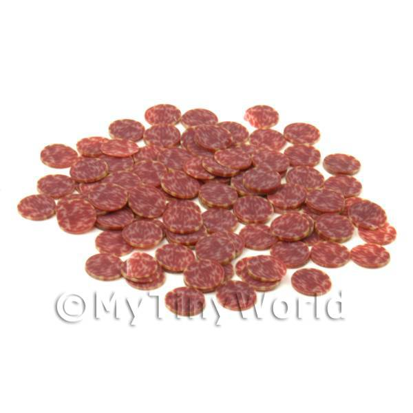 50 Pepperoni Cane Slices - Nail Art (CNS11)