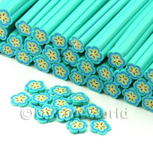 Dolls House Miniature  | Handmade Pale Blue Flower Cane - Nail Art (CNC20)