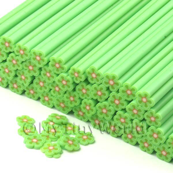 1 Green Flower Cane - Nail Art (CNC24)