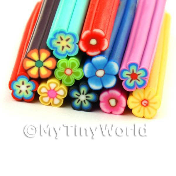 11 Mixed Flower Canes - Nail Art