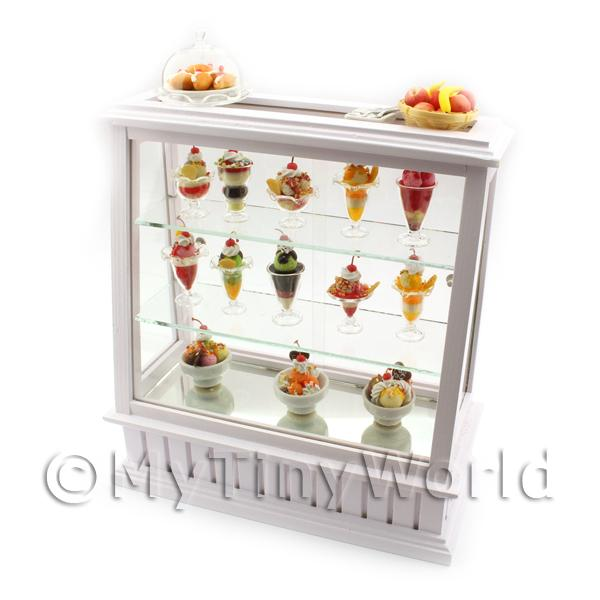 1/12 Scale Dolls House Miniatures  | Dolls House Miniature Fully Stocked Ice Cream Display