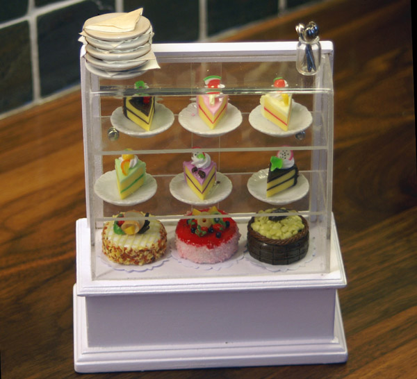 Dolls House Miniature  | Dolls House Miniature Stocked Cake Display Counter
