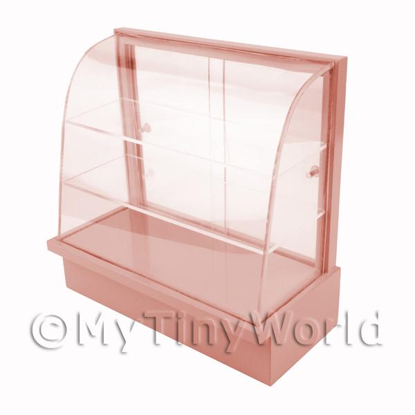 Dolls House Miniature  | Dolls House Miniature Pale Pink Curved Top Wood Shop Display Stand