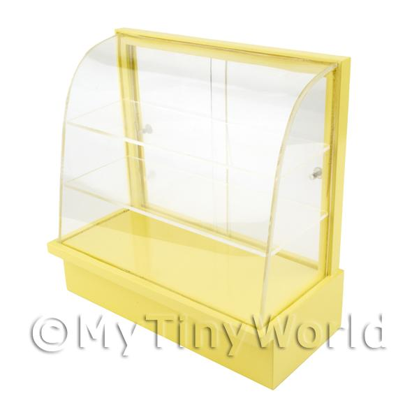 Dolls House Miniature Light Yellow Curved Top Wood Shop Display Stand