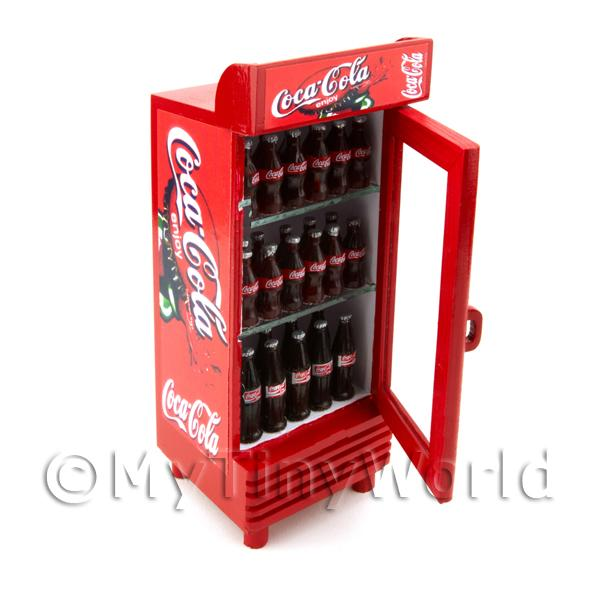 Dolls House Miniature  | Dolls House Miniature Single Coca Cola Fridge / Cooler