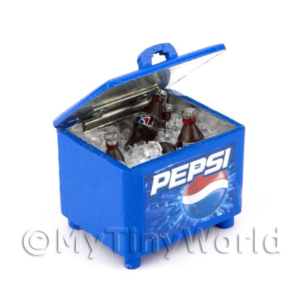Dolls House Miniature Filled Opening Pepsi Cooler