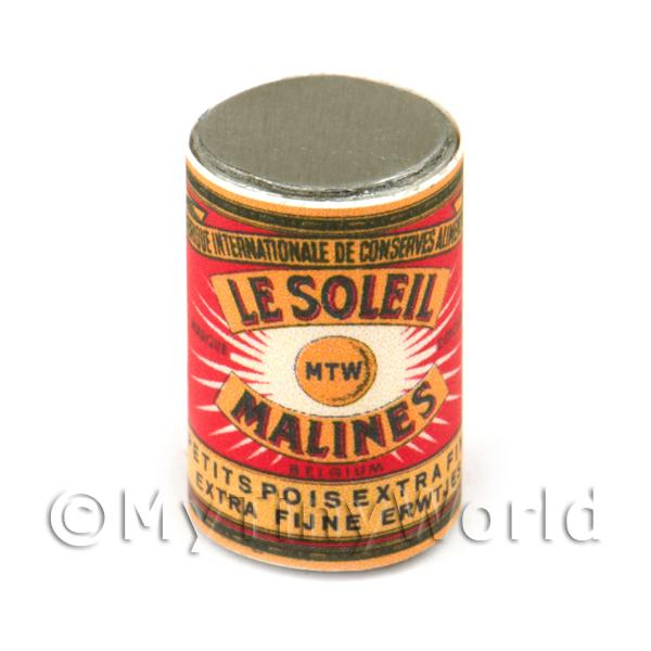 Dolls House Miniature  | Dolls House Miniature Le Soleil Extra Fine Garden Peas Can (1890s)