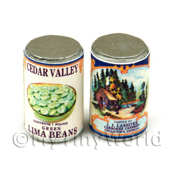 Dolls House Miniature  | Dolls House Miniature J. J. Lassiter Lima Beans Can (1920s)