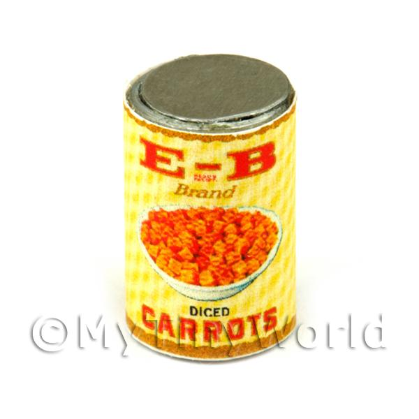 Dolls House Miniature Burnam Diced Carrots Can (1930s)