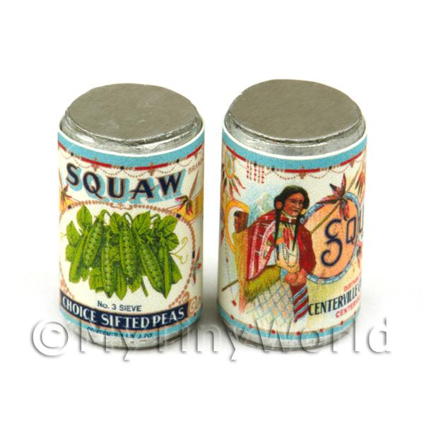 Dolls House Miniature  | Dolls House Miniature Squaw Choice Sifted Pea Brand Can (1920s)