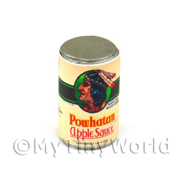 Dolls House Miniature Powhatan Apple Sauce Can (1930s)
