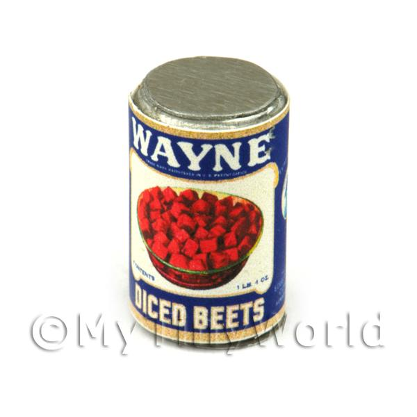 Dolls House Miniature Wayne Diced Beets Can (1930s)