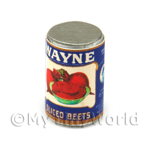 Dolls House Miniature Wayne Sliced Beets Can (1930s)
