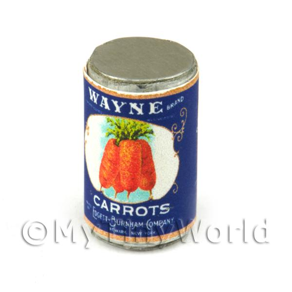 Dolls House Miniature Wayne Carrots Can (1930s)