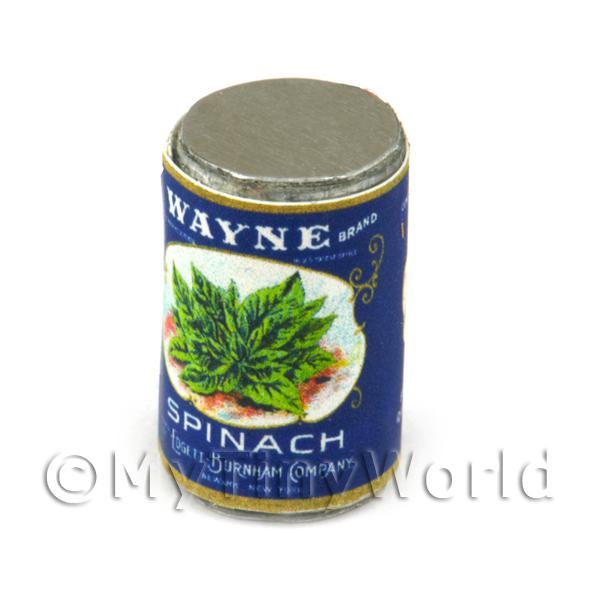 Dolls House Miniature Wayne Spinach Can (1930s)