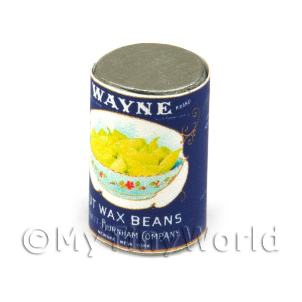 Dolls House Miniature Wayne Cut Wax Beans Can (1930s)