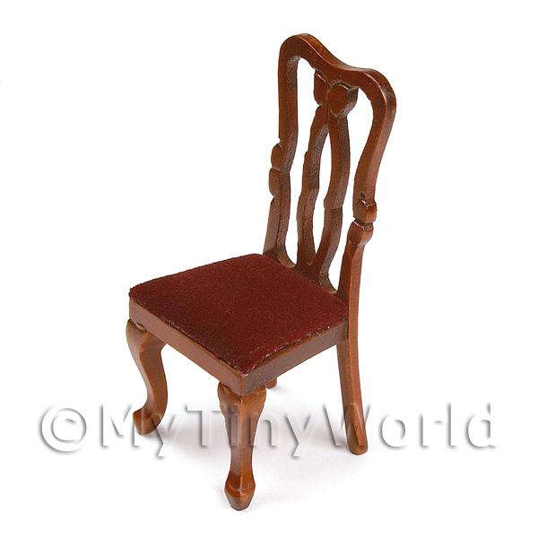 Dolls House Miniature  | Dolls House Miniature Georgian Period Mahogany Chair