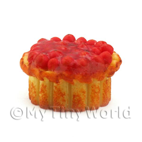 Dolls House Miniature Tangy Cranberry Topped Pork Pie