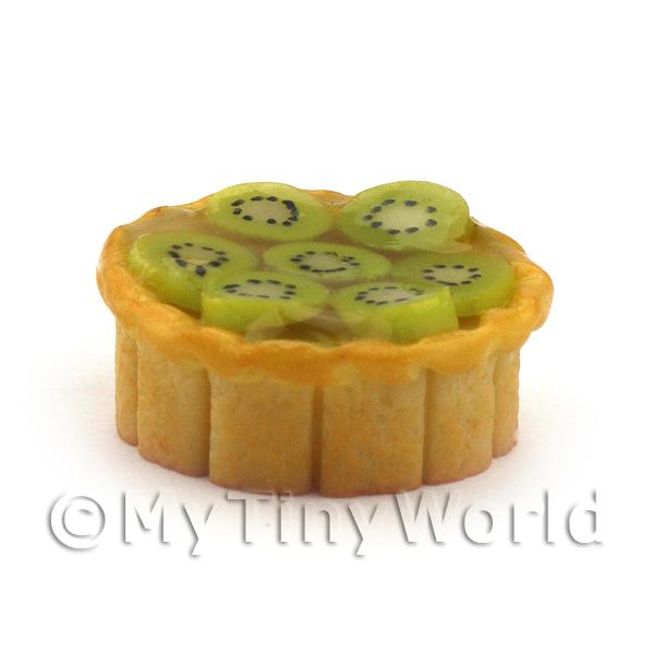 Dolls House Miniature Deep Filled Family Size  Kiwi Pie