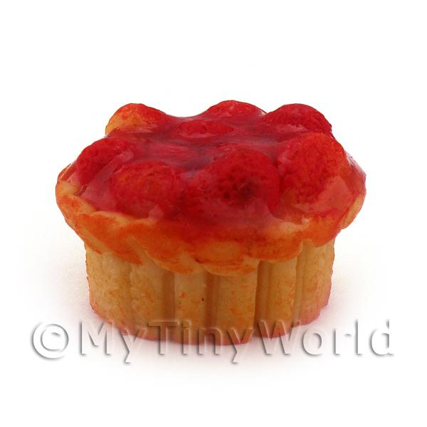 Dolls House Miniature Deep Filled Family Size Strawberry Pie