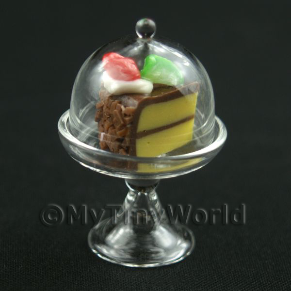 Miniature Glass Cake Stand (F) and individual Slice of Cake set