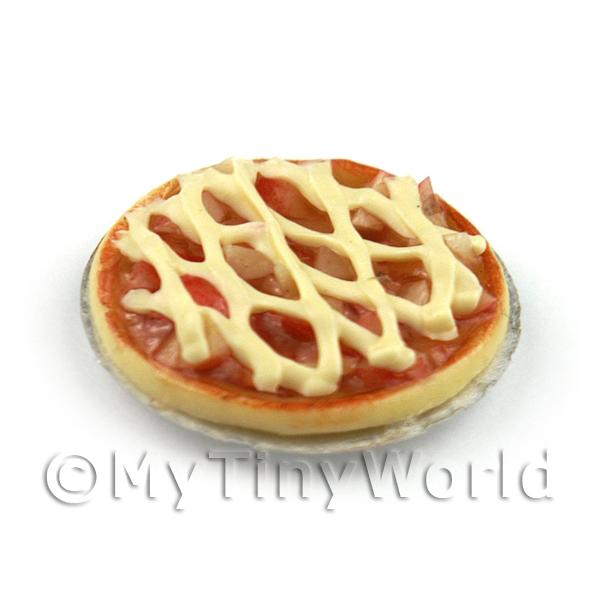 Dolls House Miniature Deep Filled Apple Lattice Pie