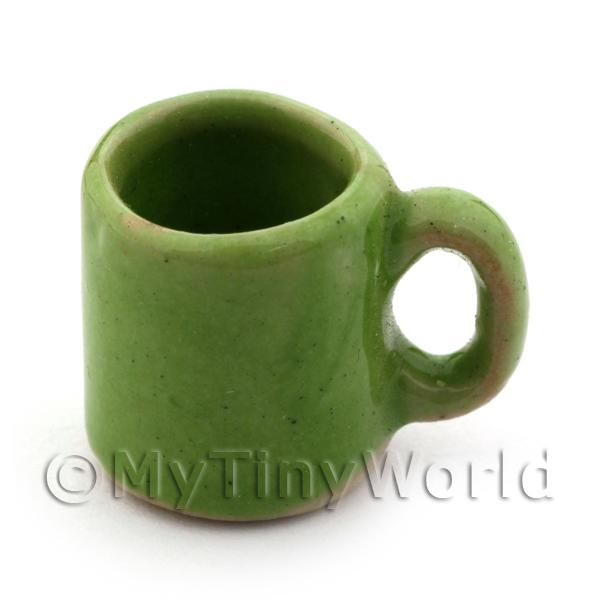 Dolls House Miniature  | 11mm Dolls House Miniature Green Ceramic Coffee Mug