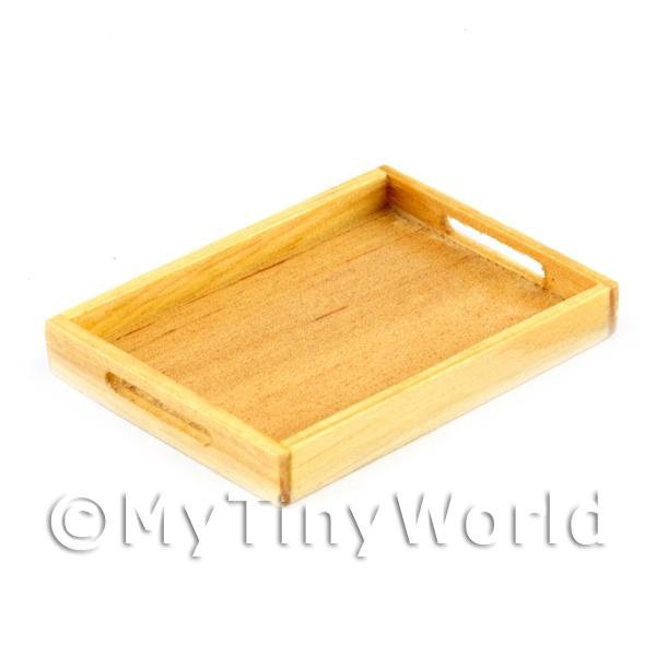 Dolls House Miniature  | Handmade Wooden Bakers Tray With Handles