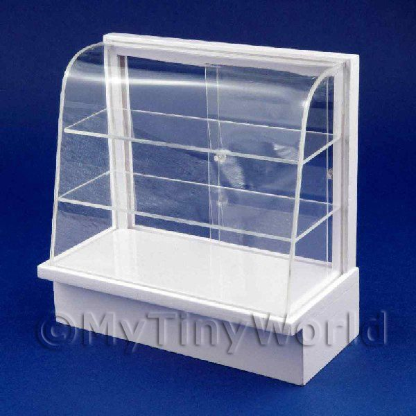 Dolls House Miniature  | Dolls House Miniature White Wood Curved Shop Display Stand