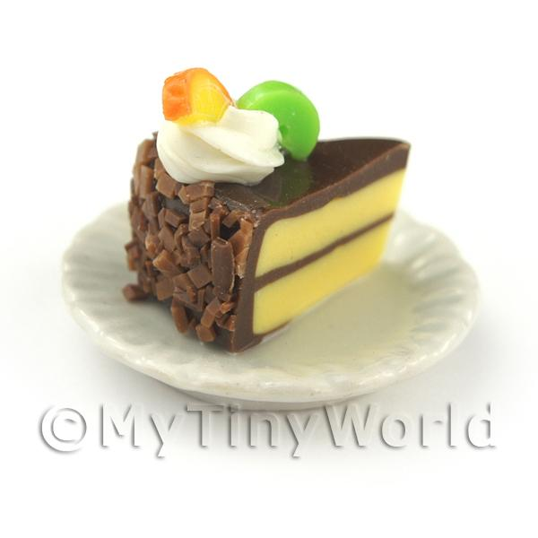 Dolls House Miniature Individual Kiwi and Orange Cake Slice