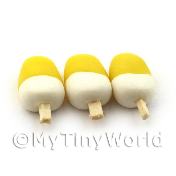 Dolls House Miniature Yellow and White Ice Lolly