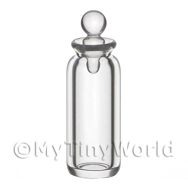 Dolls House Miniature Small Clear Glass Apothecary bottle