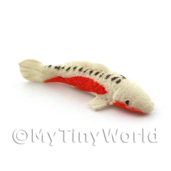 Dolls House Miniature  | Dolls House Large Koi Carp White,Orange and Black Speckled Top