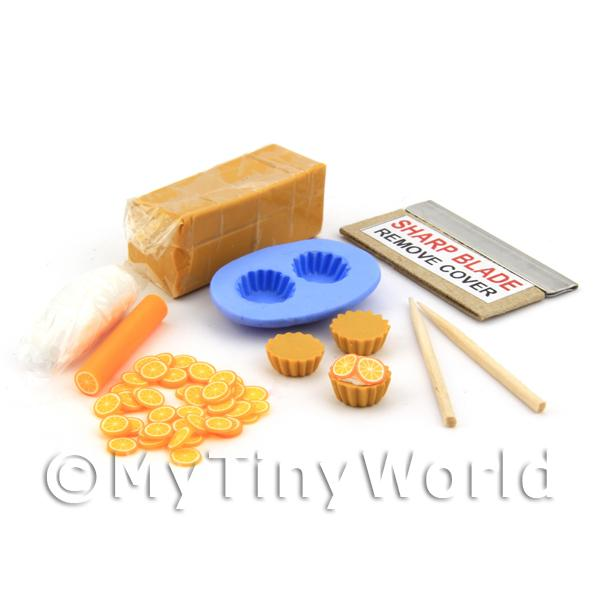 Dolls House Miniature Candied Orange Tart Kit With Silicone Mould