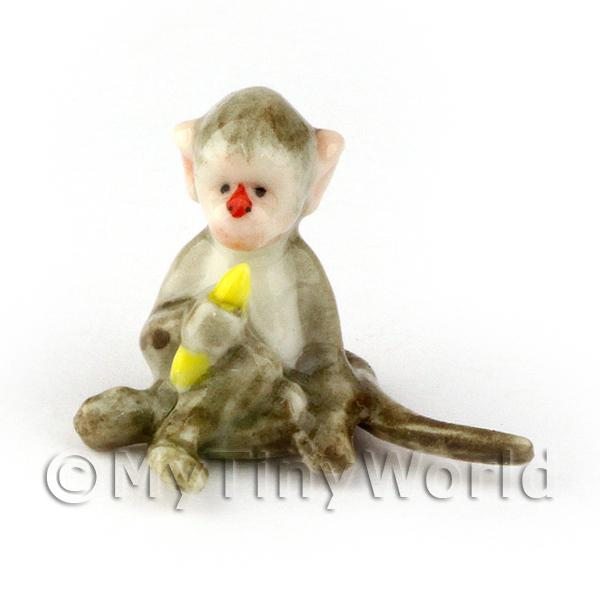 Dolls House Miniature Handmade Ceramic Monkey