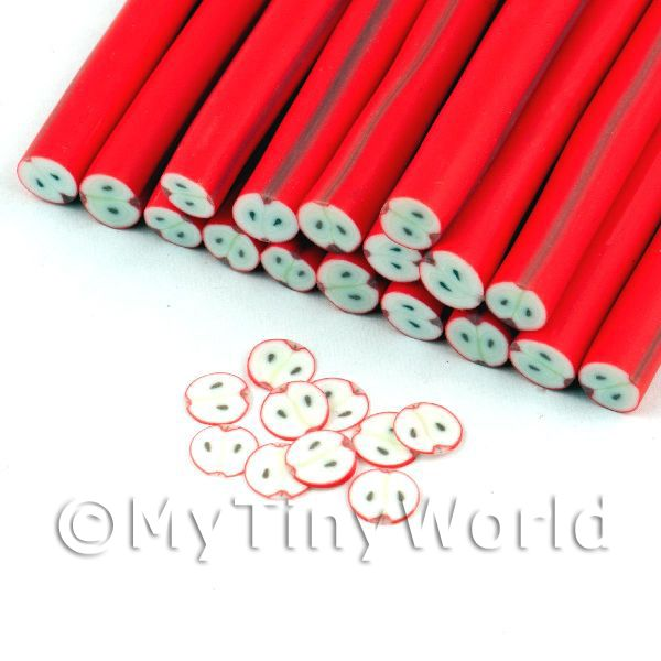 Highly Detailed Red Apple Nail Art Cane (NC70)