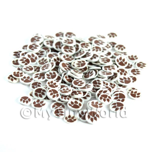 50 Fimo Paw Print Nail Art Cane Slices (NS81)