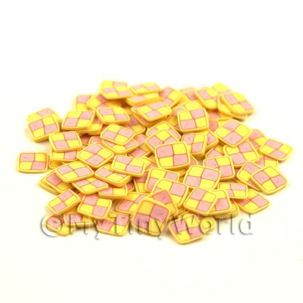 Dolls House Miniature 50 Battenberg Cane Slices
