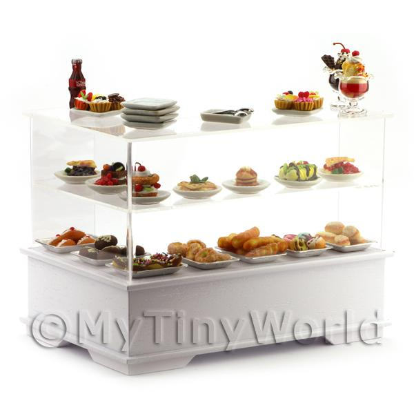 Dolls House Miniature L Shaped Filled Right Hand Dessert Counter