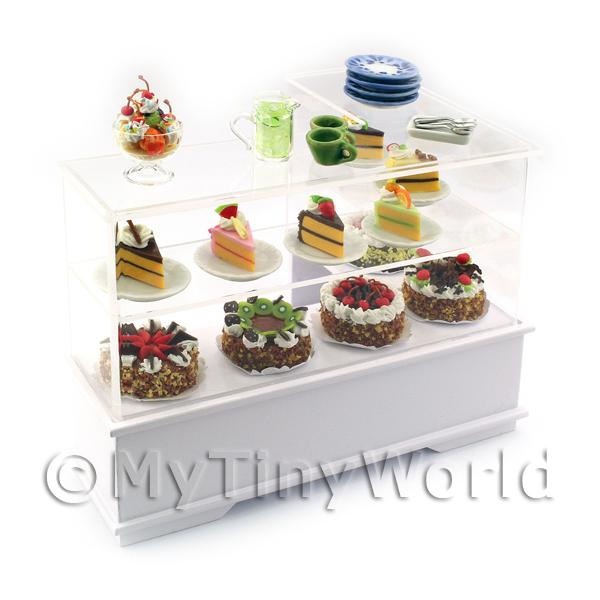 Dolls House Miniature Filled Right Hand Cake Counter